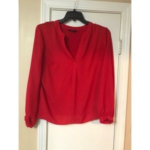 INC red dressy blouse